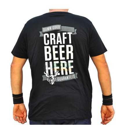 """Camiseta Stone """"Craft Beer Here"""" Negra"""