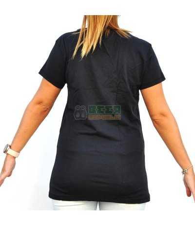 Camiseta Brooklyn Negra Mujer
